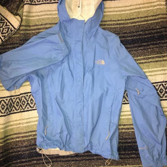 8f9772746 Light blue women's north face rain jacket size S